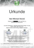 Bescheinigung DGUV Regel 101-004 BGR 128 MH Erdbau