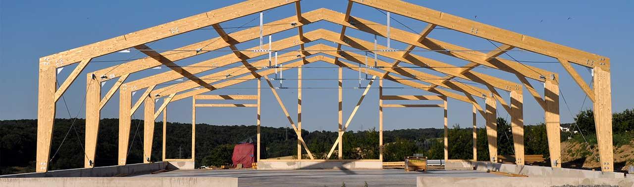 Hallenbau Holzkonstruktion MH Erdbau