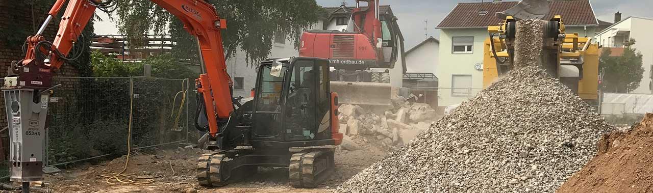 Recycling Bauschutt MH Erdbau
